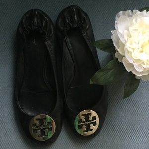 Tory Burch black and silver flats size 11